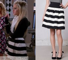 dalia striped skirt