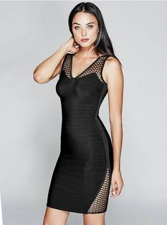 Buy this GUESS Marciano Devora Bandage Dress online or in store. Sheer  panels detail this sexy bandage dress, complete with a super-stretch  construction and ... 83819ecf5c91