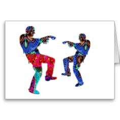 Zombi Dance HappyHolidays Printed Script Greeting Cards