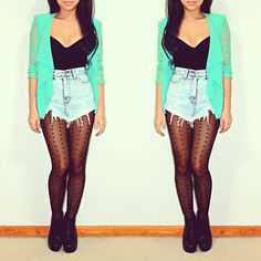 Shorts for fall. Super cute, but with a darker sweater