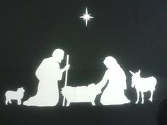 Nativity Christmas family window stickers including sheep, donkey and star Christmas Nativity Scene, Christmas Paper, Family Christmas, Christmas Window Stickers, Christmas Windows, Meaning Of Christmas, Donkey, Sheep, Christmas Decorations