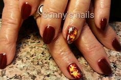 Freehand fall nails! Cute leaves! | NAILPRO User Gallery