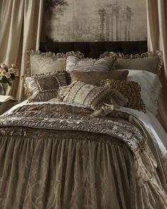 """""""Lucia"""" Bed Linens by Isabella Collection by Kathy Fielder at Horchow."""