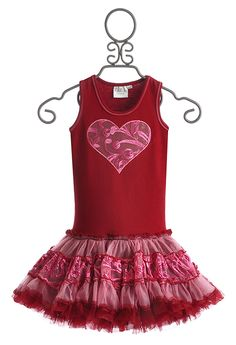 Ooh La La Couture Red Heart Girls Dress $82.00