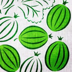 Screen print Gooseberry, karviaismarja, stachelbeere, stickelbär, krusbär, print pattern by Ann Granlund www.ann.ax