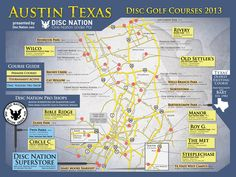 Austin Texas Disc Golf Courses, 2012