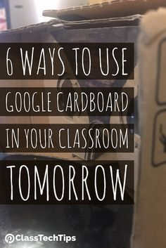 Here are six tips for using Google Cardboard ASAP - with this super cool and affordable headset, you can easily bring virtual reality into your classroom.
