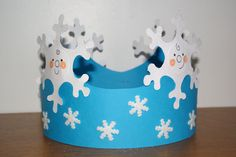 For Frozen party:) Winter Art Projects, Winter Project, Winter Crafts For Kids, Winter Kids, Art For Kids, Crown Crafts, K Crafts, Snowman Crafts, Preschool Crafts