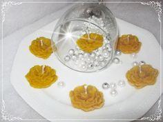 Méhviasz virág (P) úszógyertya 10 db, Esküvő, Dekoráció, Esküvői dekoráció, Meghívó, ültetőkártya, köszönőajándék, Meska