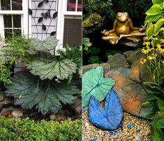 Gartengestaltung Mit Wasser Und DIY Betonblättern