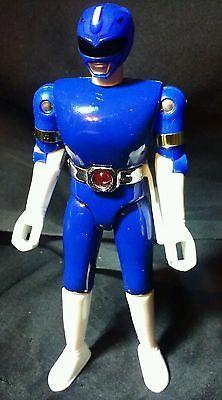 Power Rangers Diecast metallic BLUE RANGER light-up belt No Markings MMPR figure