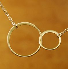 Circle Necklace jewelry Gold Circle Necklace by Popsicledrum