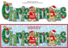 Gingerbread Couple CHRISTMAS large dl on Craftsuprint by Designer Eva Cano