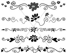 Flourish SVG, Divider Lines, Scalable Vector Graphics, Underlines, PDF JPG Files, Fancy Swirls and Ornamental Borders, Hand Drawn Elements