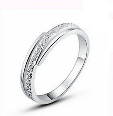 2017 Hot sell fashion brush finish 925 sterling silver ladies rings wholesale jewelry drop shipping