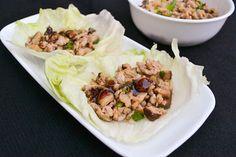 Asian style chicken lettuce wrap