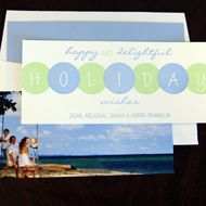 Holiday Lights photo card from Designers Fine Press - the photo goes on the back of the card. Customize yours with Paper Passionista.