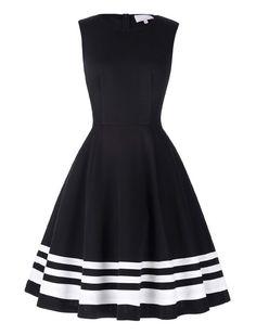 Vintage Dresses Vintage Style Head Over Heels Black And White Striped Dress - Retro Mode, Vintage Mode, Vintage Style, Retro Vintage, Retro Style, Classic Style, Casual Dresses, Short Dresses, Fashion Dresses