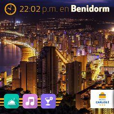 El encanto del paisaje nocturno de Benidorm :)