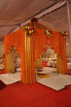 The mandap Wedding Backdrop Design, Desi Wedding Decor, Wedding Hall Decorations, Wedding Stage Design, Wedding Reception Backdrop, Wedding Mandap, Diy Backdrop, Backdrops, Mandap Design
