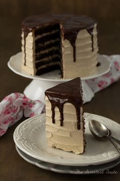 The Sweetest Taste: Chocolate cake, coffee and Baileys Sweet Recipes, Cake Recipes, Dessert Recipes, Cake Cookies, Cupcake Cakes, Cupcakes, Just Desserts, Delicious Desserts, Drip Cakes