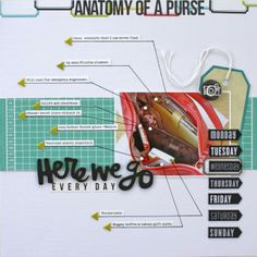 anatomy of a purse by Christine for @Connie Serratt Albert Daisy such a genius idea #scrapbooking #cocoadaisykits