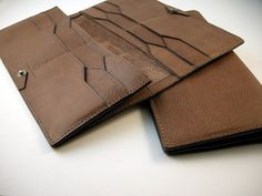 Interesting multi pocket leather wallet