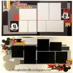 Disney layouts by Mary Thompson Friend Scrapbook, Album Scrapbook, Disney Scrapbook Pages, Scrapbook Sketches, Scrapbook Page Layouts, Scrapbooking Ideas, Disney Crafts, Disney Love, Disney Magic