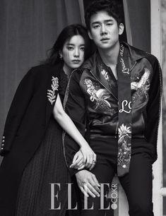 Han Hyo Joo & Yoo Yun Suk - Elle Magazine April Issue '16