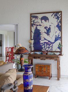 Detalhes; vasos, arte, Vic Muniz