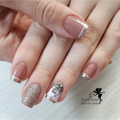 30 Super Nail Art Ideas for Short Nails 2019 Fancy Nails, Diy Nails, Pretty Nails, Gold Nails, Spring Nail Art, Spring Nails, Super Nails, Nail Stamping, Beauty Nails