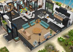 Casas The Sims Freeplay, Sims Freeplay Houses, Sims Free Play, Sims House Plans, Sims House Design, Sims Building, Sims 4 Build, Sims 2, Home Interior Design