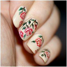 Orly My Beau + acrylic paint #nails #nailart