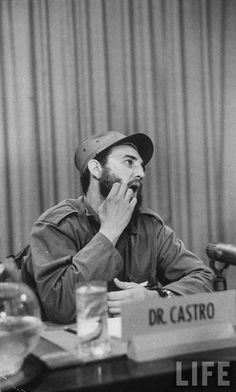 Fidel Castro being interviewed in Havana after the Cuban Revolution.