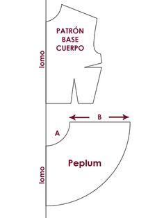 Patrón: Blusa con Peplum. (peplum pattern)