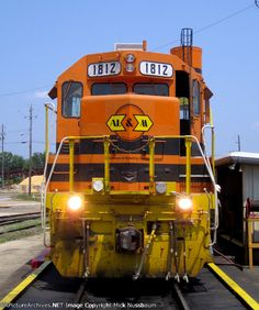 AL&M #1812 on the M&B fuel rack   Description:    Photo Date:  6/14/2011 Location:  Meridian, MS   Author:  Mick Nussbaum  Categories:    Locomotives:  ALM 1812(GP28)