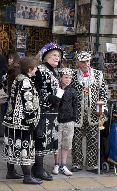 Clearly a recent Photo . But this has been going on for well over 100 years Pearly King and Queens