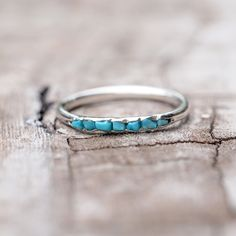 This Rough Nevada Turquoise Ring // Hidden Gems is just one of the custom, handmade pieces you'll find in our stackable rings shops. Turquoise Birthstone, Turquoise Rings, Turquoise Bracelet, Vintage Turquoise Jewelry, Hipster Rings, Nevada, Engagement Ring Settings, Or Rose, Silver Rings