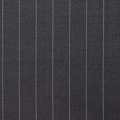 Navy With Blue Pin Stripe Super 100's Wool | Barrington Fabrics