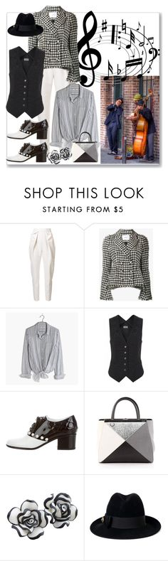 """""""Listen to the Music"""" by ahapplet ❤ liked on Polyvore featuring Delpozo, Erdem, Madewell, Temperley London, Chanel, Fendi, Gucci, music, Street and jazz"""