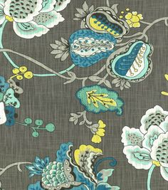 Home Decor Print Fabric- Richloom Studio Bach Aquamarine at Joann.com (ottoman fabric. I like that this one combines all of the room colors)