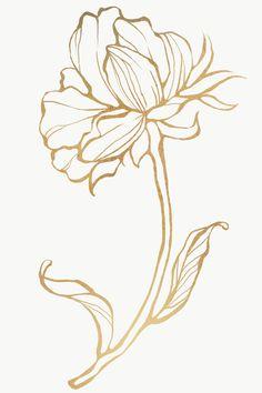 Download premium illustration of Detailed golden leaves