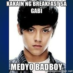 #MEDYOBADBOY: Before the chicharon ad of Daniel Padilla immortalized his status in local pop culture as a vegetarian (Right? Wasn't that the point?), this meme set ablaze a series of posts demonstrating petty violations. What Is Hot, Daniel Padilla, Hashtags, Philippines, Online Business, Pop Culture, Vegetarian, Ads, Posts