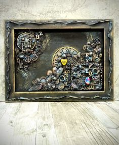 Диана Январева Mixed Media Canvas, Mixed Media Art, Punk Decor, Vintage Jewelry Crafts, Steampunk Diy, Steampunk Cards, Weird Shapes, Art Journal Pages, Cute Crafts