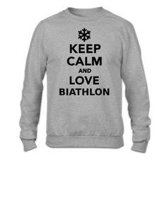 Keep calm and love Biathlon - Crewneck Sweatshirt