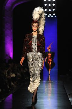Dita von Teese stars as magical showgirl butterfly for Jean Paul Gaultier haute couture collection. Click  here to see the amazing photos.