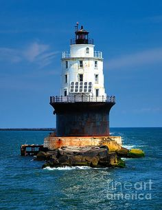 Harbor Of Refuge LIGHTHOUSE @  Delaware Bay, Delaware _____________________________ Reposted by Dr. Veronica Lee, DNP (Depew/Buffalo, NY, US)
