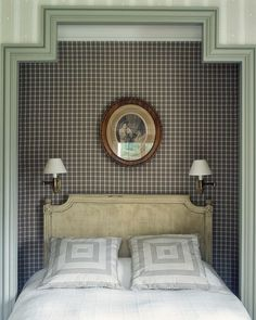 Nice wallpaper and molding.  bungalowclassic