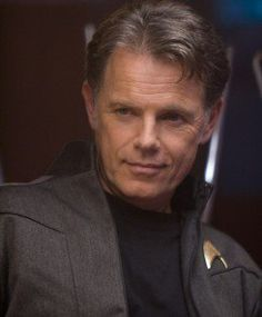 Bruce Greenwood - Pike: Your aptitude tests are off the charts, so what is it? You like being the only genius level repeat offender in the Midwest? Kirk: We done? Pike: You know your father was Captain of a Starship for 12 minutes. He saved 800 lives. Including your mother's and yours. I dare you to do better.  Bruce Greenwood (1956-) / Christopher Pike