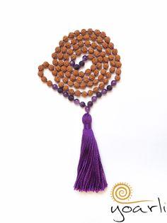Amethyst - Amethyst Rudraksha Mala 108  - ein Designerstück von Yoarli bei DaWanda